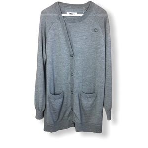 MM6 Martin Margiela 100% Wool Long Cardigan Size M